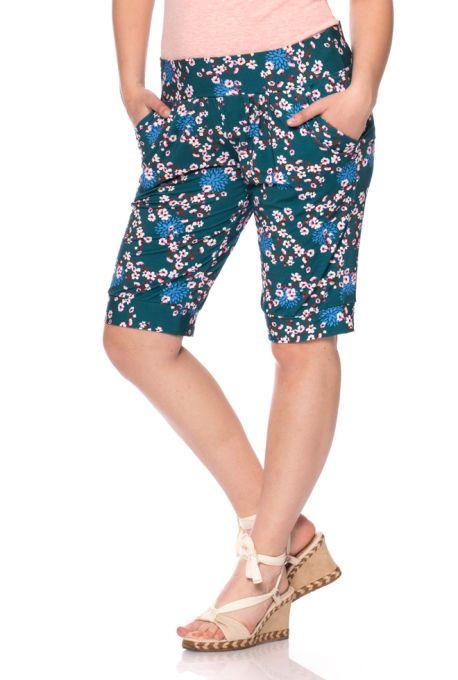 c1c6b34da0e1 NOISY short Pants (teal cherry blossom)